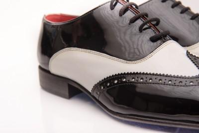 Pantofi Oxford din piele naturala lacuita Ottavio