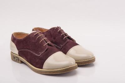 Pantofi dama velur lac